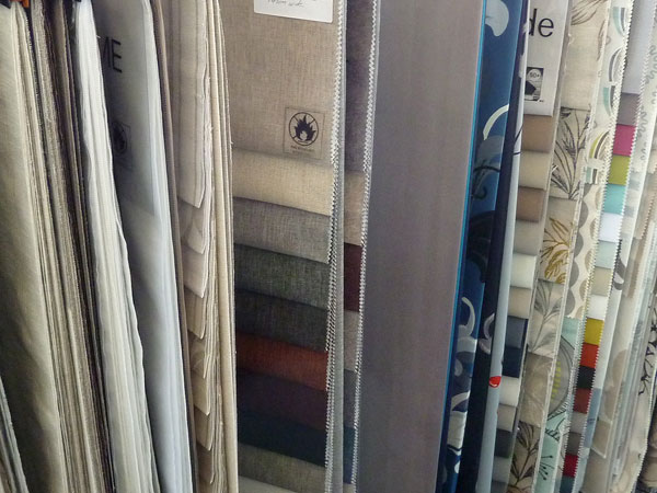 Fabric samples from Lindy's Curtains and Blinds