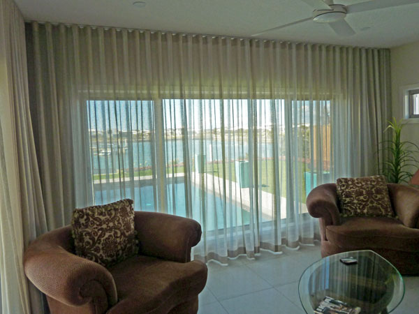 Sheer curtains on S wave track from Lindys Curtains and Blinds